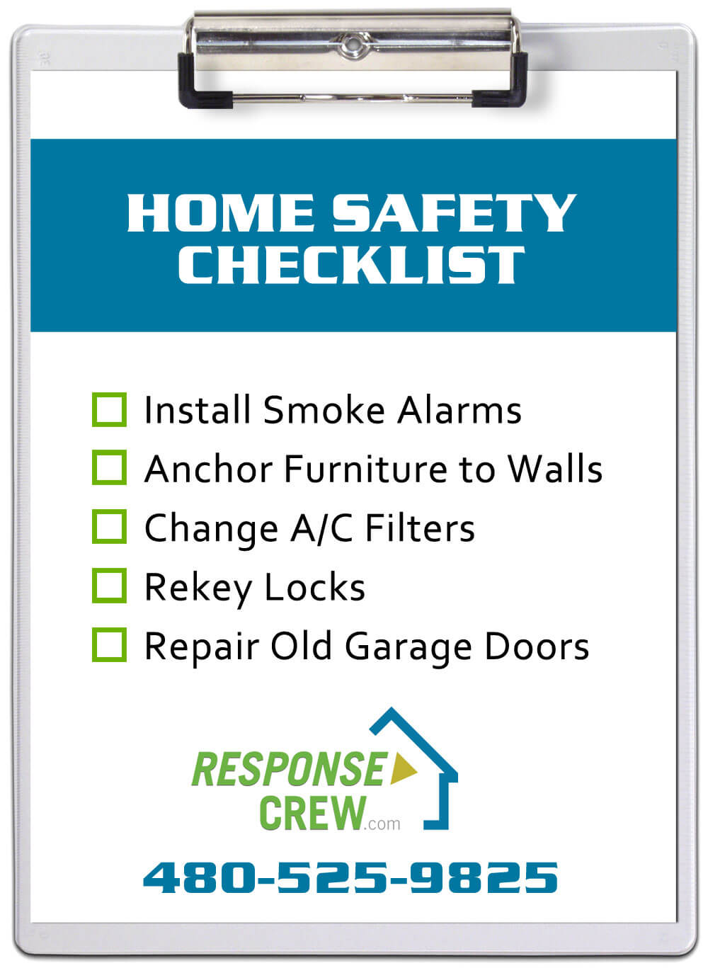 home safety services Response Crew helps customer with